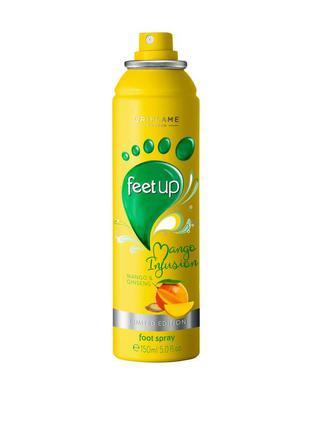 Освежающий спрей-дезодорант для ног «манго и женьшень»