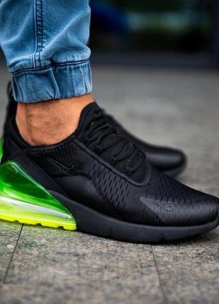 Шикарные мужские кроссовки nike air max 270 чёрные