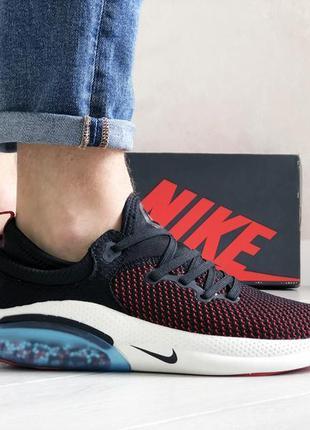 Прекрасные мужские кроссовки nike joyride run flyknit чёрные