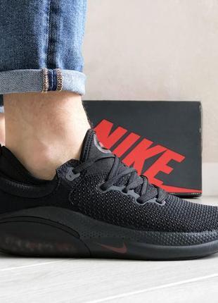 Шикарные мужские кроссовки nike joyride run flyknit чёрные