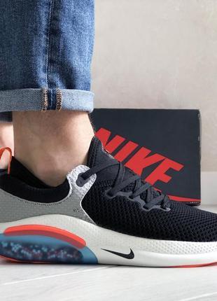 Крутые мужские кроссовки nike joyride run flyknit чёрные