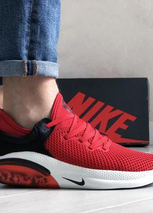 Шикарные мужские кроссовки nike joyride run flyknit красные
