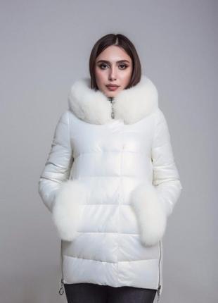 Потрясающий зимний пуховик-куртка из экокожи ZL.YA(ZLLYA) 18507
