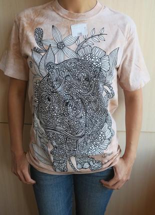 The mountain футболка раскраска антистресс