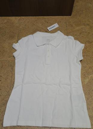 Школьная футболка поло old navy для девочки 6-8 лет.