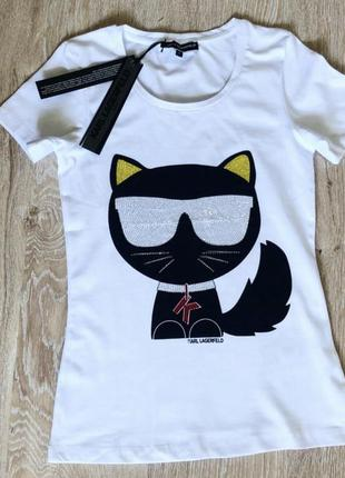 Новая женская футболка karl lagerfeld.