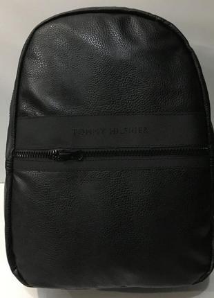 Новый кожаный мужской рюкзак tommy hilfiger.