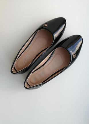 Черные балетки чорні туфлі туфли туфельки