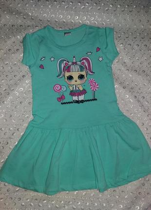 Платье на девочку лол 1-3г маломерит