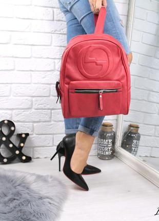 Рюкзак женский красный / рюкзак молодежный / рюкзак женский