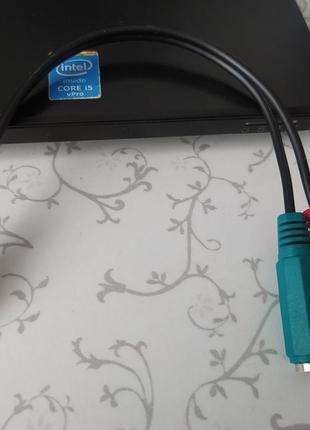 Кабель раздвоитель 3,5 jack 4 pin на наушники и микрофон