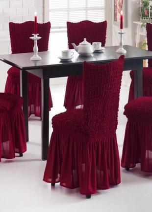 Чехол на стул с юбкой Home Collection Evibu Турция