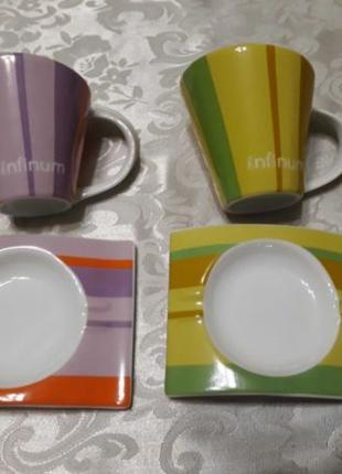 Чашки с блюдцами (цена за пару)