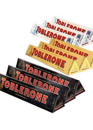 Швейцарский черный шоколад Toblerone 9 вкусов в ассортименте 100g
