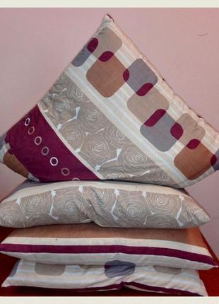 Подушка ватная 60х60см Оптом (для строителей, гостиниц, общежи...
