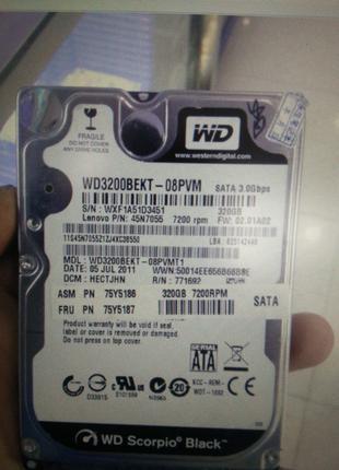 22 HDD 2,5 винчестер для Ноутбука 320Гб - 2.5 Жорсткий диск 320Gb