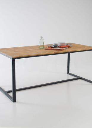 """Кухонний,обідній стіл в стилі Лофт з натурального дерева """"Лібері"""""""