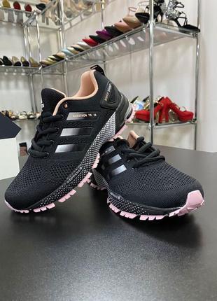 Женские кроссовки adidas marathon чёрные кроссовки Адидас