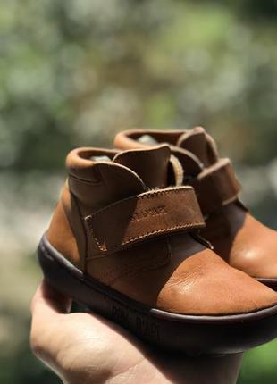 Кожаные демисезонные ботинки 22
