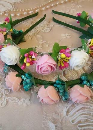Ободок с цветами Обруч с цветами