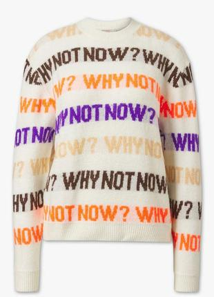 Трендовый вязаный свитшот пуловер свитер с надписью ,германия