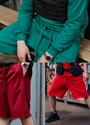 Шорты мужские трикотажные Пушка Огонь Breet бордовые,зеленые,крас
