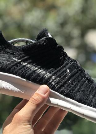 Nike free rn flyknit спортивные кроссовки