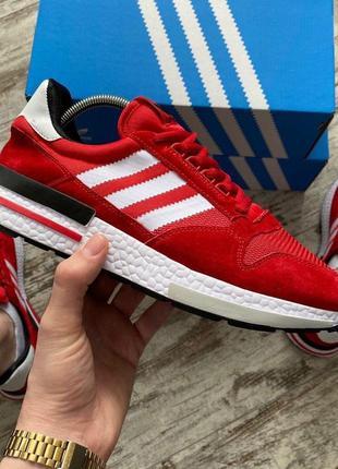Adidas zx 500 red красные мужские кроссовки наложенный платёж ...