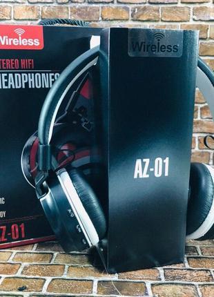 Наушники Bluetooth с FM, MP3 накладные AZ-01