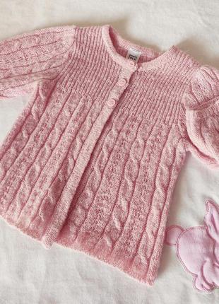 Детский свитер tu обнова розовый вязаный свитерок для девочки