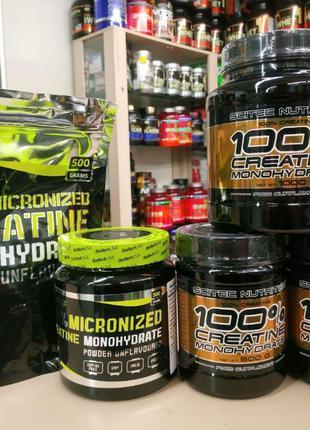 Creatine Monohydrate 300 500 1kg Scitec Biotech USA креатин мо...