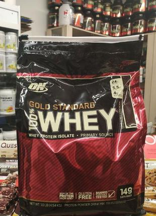 Optimum Nutrition Whey Gold Standard 4,54 кг Протеин Protein u...