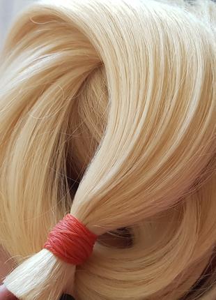 Натуральные волосы славянские блонд