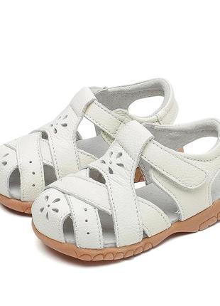 Детские кожаные сандали, летняя обувь, кожаная обувь.