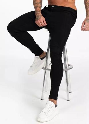 Новые мужские чёрные джинсы