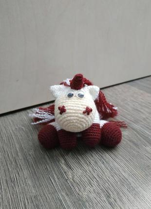 Милая единорожка, вязанная игрушка-амигуруми, Hand-made