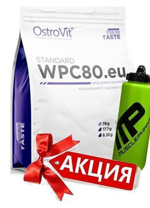 Протеин Ostrovit WPC 80.eu (78% protein) 2270g + Water Bottle