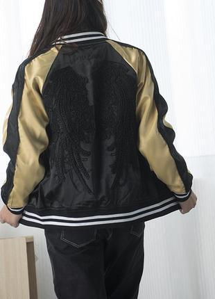 Стильная демисезонная куртка бомбер крылья ангела