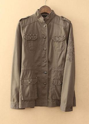 Стильная куртка пиджак в стиле сафари