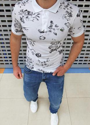 Хлопковая футболка поло есть размеры