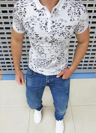 Стильная футболка поло есть размеры