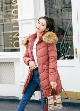 В наличии модная куртка пуховик средней длинны молодежный стиль