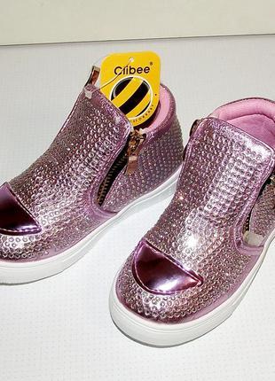 Демисезонные гламурные ботинки для девочек clibее румыния
