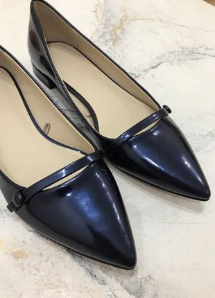 Лаковые туфли балетки Zara 38