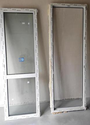 Двери балконные с коробом TROCAL с новостройки