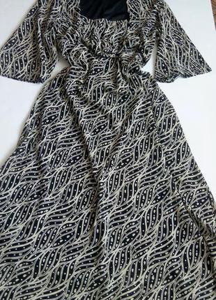 Платье в пол 50 52 размер бюстье принт распродажа длинное ново...