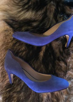 Туфли лодочки на каблукенатуральный замш