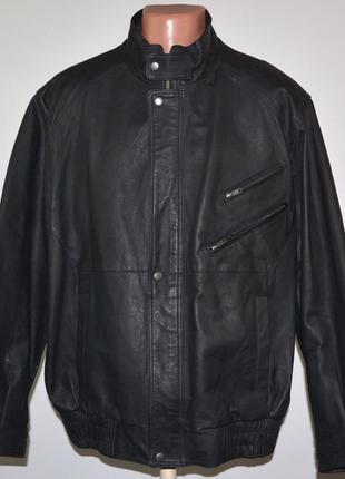 Фирменная кожаная куртка greenwoods (2xl) в идеале.