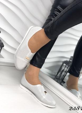Женские туфли серебро 41р кожа