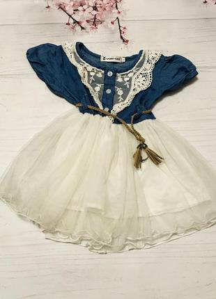 Платье нарядное фатин сетка кружево
